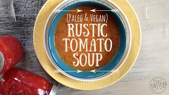 Rustic Tomato Soup From Canned Diced Tomatoes