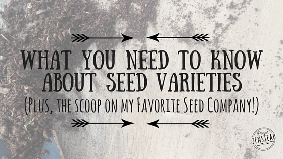 What You Need to Know about Seed Terms & Varieties