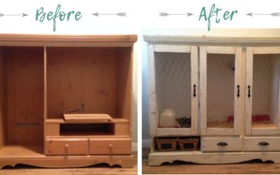 How to Make a DIY Chick Brooder from an Old Entertainment Cabinet