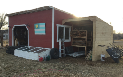 January 2019: New Barn Addition, Sourcing Free Wood & Better Composting!