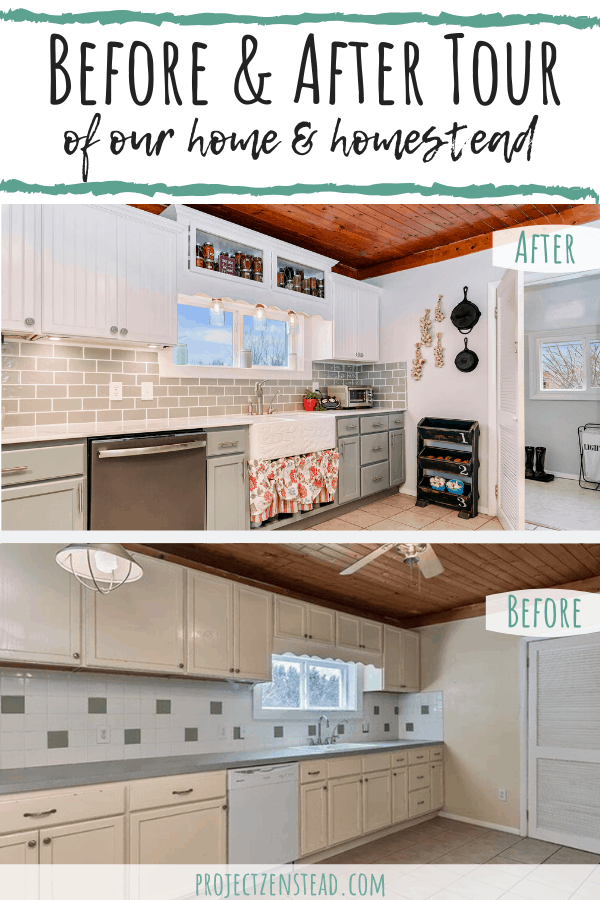Before & After Tour of our Home & Homestead